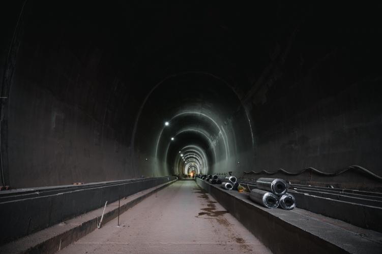 Construction of the railway Tunnel Čortanovci