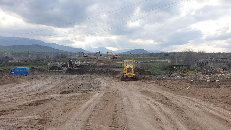 Construction of Fuzuli – Hadrut highway