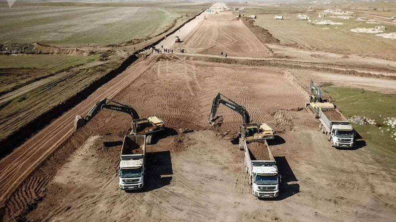 Construction of a new runway, apron, taxiways and forecourt at Fuzuli International Airport